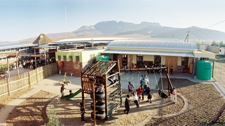 The completed Seven Fountains Primary School. Photo: Steve Kinsler.