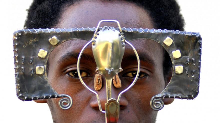 Cyrus Kabiru creates eccentric eyeglasses from electrical waste