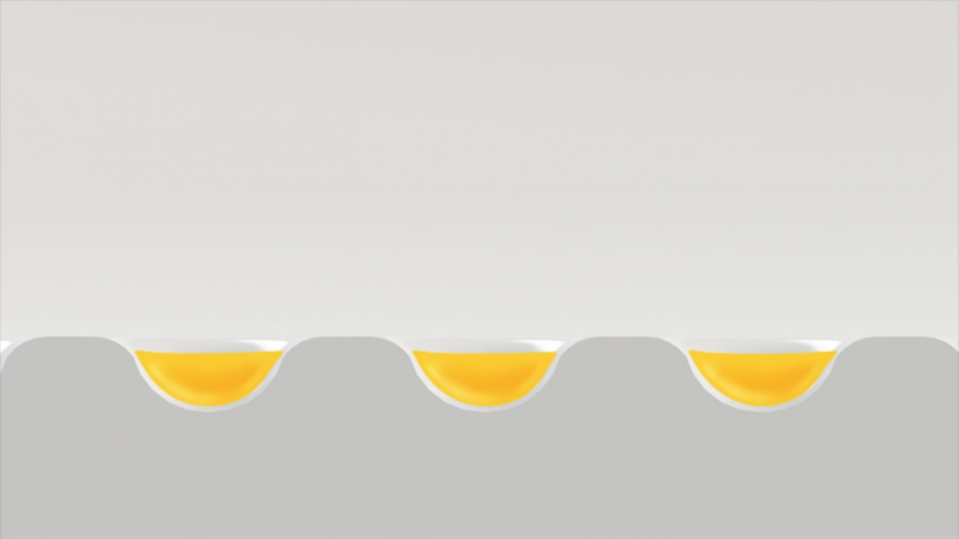 Perforations in the surface of AbsorbPlate catches excess grease