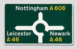 Margaret Calvert Nottingham road sign