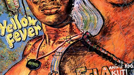 Fela Kuti's Yellow Fever album designed by Ghariokwu Lemi.