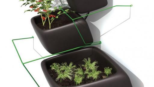Wallflower Vertical Garden is a modular planter system by Haldane Martin