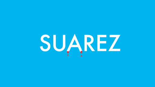 """""""Suarez"""" Worldcup typography treatment by Ji Lee (Facebook)"""