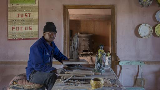 Nico Masemola, protege of Hylton Nel. Photo: Jac de Villiers. Stylist: Liane Visser.
