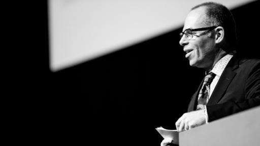 Michael Bierut emceeing at Design Indaba 2012