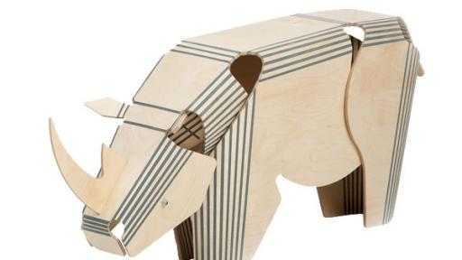 The Stratflex Rhino made from plywood, timber and rubber