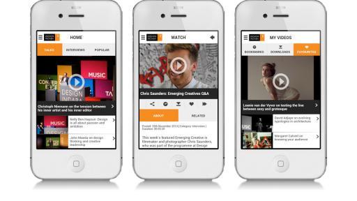 Design Indaba video app