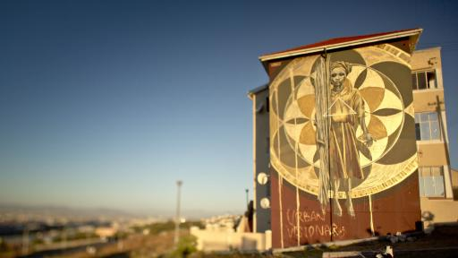 The Harvest mural by Faith47. Photo by Rowan Pybus @makhulu_