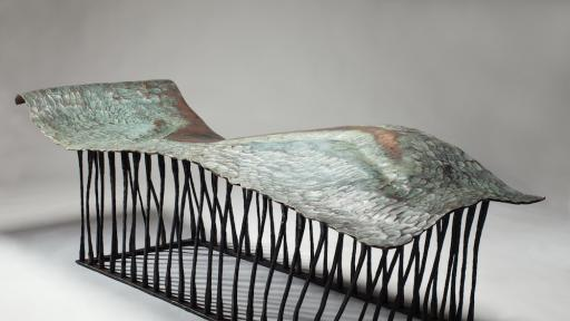 Conrad Hicks' Chaise Muse will be on exhibition at Design Miami/Basel from 17 to 22 June. Image: Southern Guild.