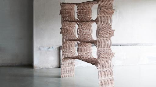 Wood Weavings by Martina Lasinger.