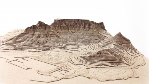 Nikki Onderstall's laser cut models of Cape Town