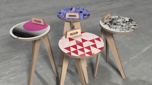 Leg Studios' Carry Tables.