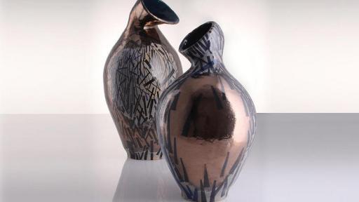 Martine Jackson and Galia Gluckman's collaboration pots, Bronzers duo.