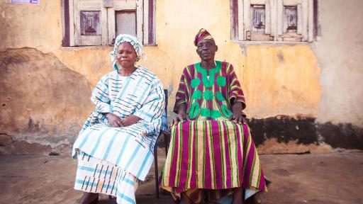 Tunde Owolabi visited a small town in Oyo State to learn about the material Aso Oke.