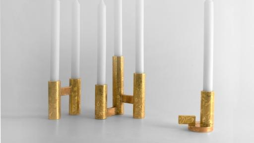 Sunken candleholder collection by Adriana Castillo Cota.