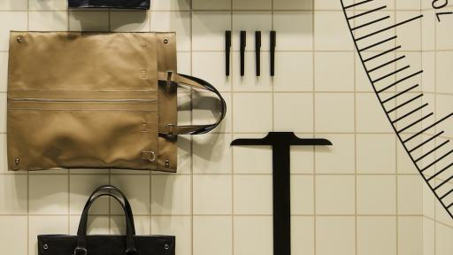 Nendo's multifunctional architect bag for Tod's.