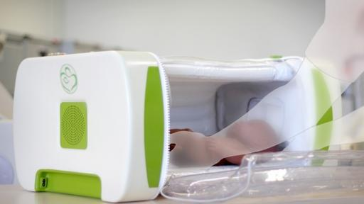 A British student has designed an inflatable incubator specifically to save the lives of premature babies born in refugee camps