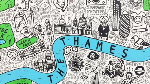 London-based illustrator Jenni Sparks creates hand-drawn maps that capture the character of the place they describe