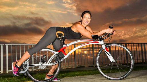The designer behind the Bird of Prey Bicycle, which the user rides prone like a superhero, says it is the fastest, most comfortable bike ever. Image: Bird of Prey Bicycle