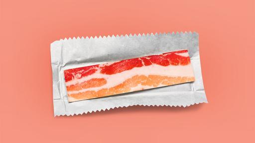 Eco-artist Dan Cretu creates quirky art like like bacon chewing gum.