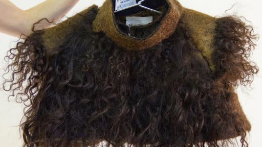 Alix Bizet, a French graduate at the Design Academy Eindhoven, has designed a collection of clothes made of human hair.