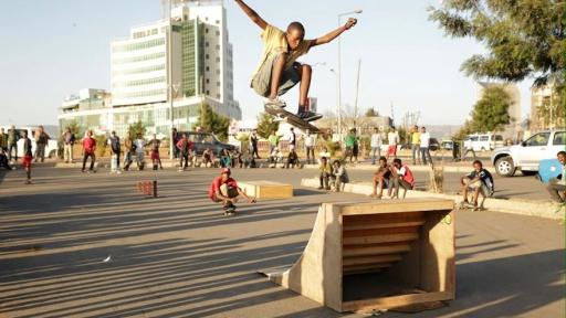 Ethiopia Skate is an initiative that uses skateboarding to make connections in Addis Ababa