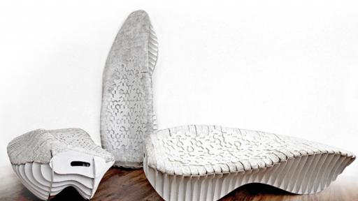 Researchers created two chairs using waste and tech.