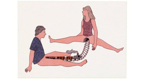 """Les Coquins"" is a book of risqué illustrations by French artist Marion Fayolle."