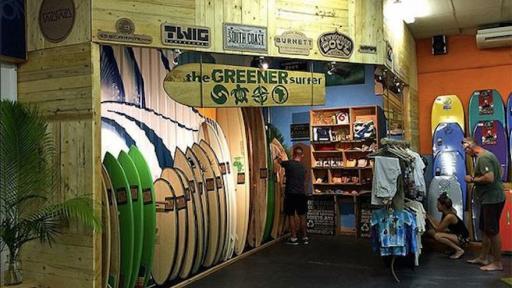 Greener surfer outlet