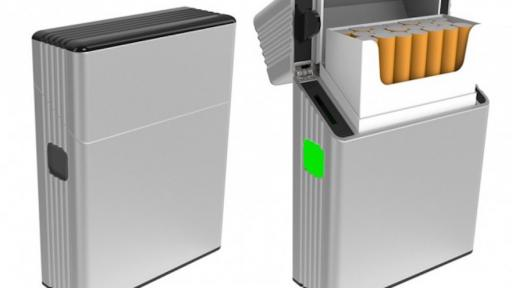 This smart box pairs with an app to form a tech solution to cigarette cravings.