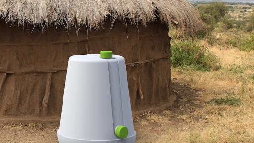 Anthony Brown has developed the Si-Low, a low-cost grain storage unit to help prevent farmers in Africa form loosing their grain after they harvest.