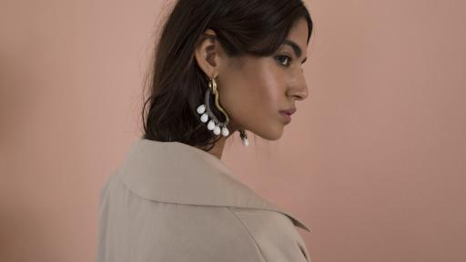 Jade cornicopia earrings by Pichulik SS17