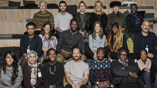 Marcus Engman of IKEA and Ravi Naidoo of Design Indaba with the group of designers set to create IKEA's first-ever exclusive, all-African collection.