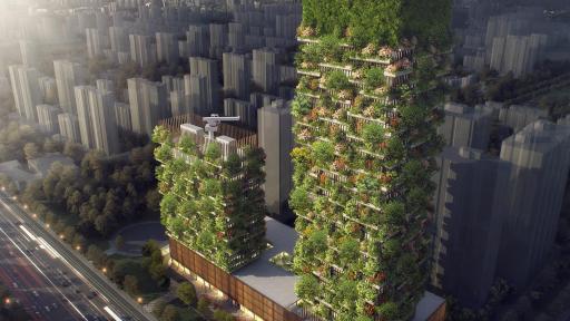 Nanjing Vertical Towers Stefano Boeri Architetti