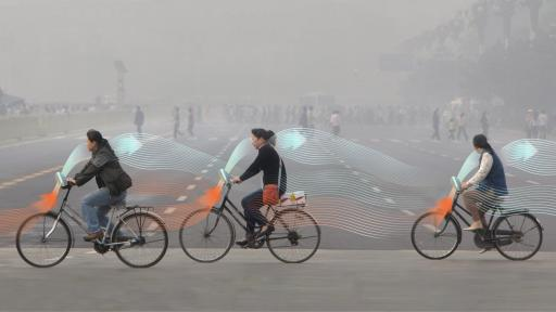 Daan Roosegaarde's Smog Free Bicycles