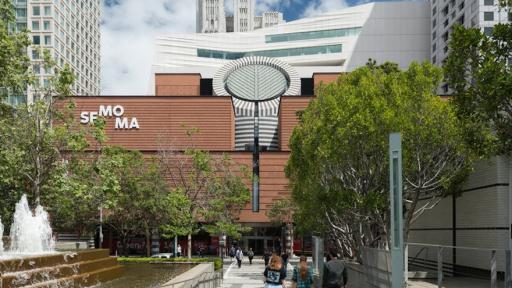 The new SFMOMA, view from Yerba Buena Gardens; photo: Jon McNeal, © Snøhetta