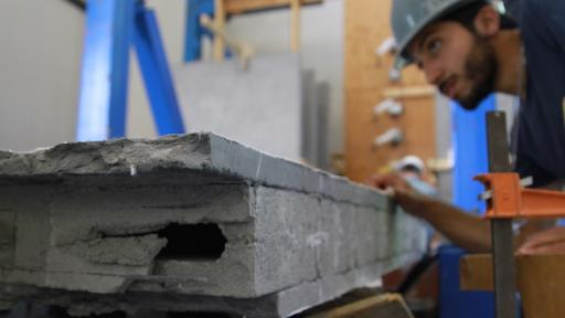 A concrete so malleable it won't break under severe earthquake pressure.
