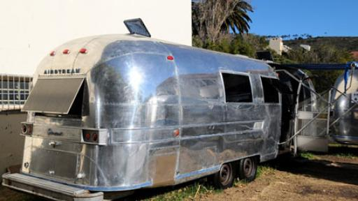 The Grolsch magnetic Airstream trailer.
