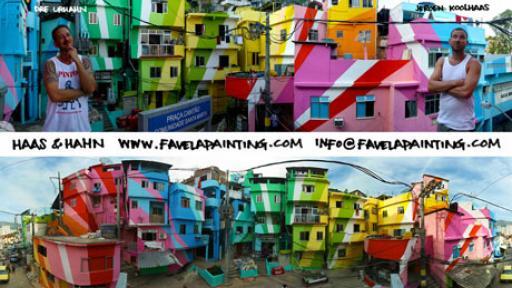 Favela paintings by Haas&Hahn.
