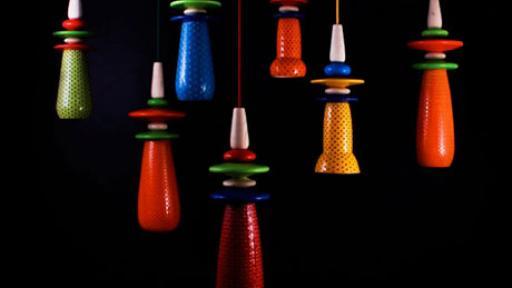Ceiling lamp. Photo via designboom.