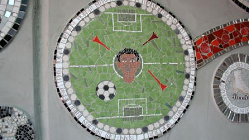 World Cup mosaics. Photo via designboom.