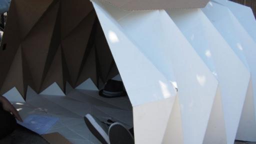 Cardborigami shelter.
