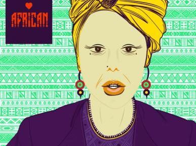 """Moeketsi Lebakeng, who goes by the name """"Mokay"""", is a Johannesburg-based illustrator and User Interface designer. His illustration style is mostly a celebration of women and their heroic tales."""