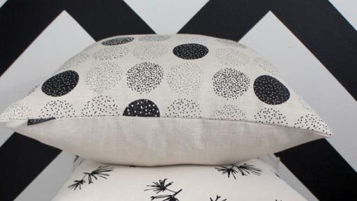 Smith screenprints textiles which are designed and printed by hand in her Cape Town studio, using 100% locally sourced natural cotton and linen cloth.