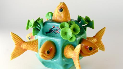 The Fishtales sculpture