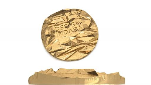 The Design Indaba gold medallion, designed by Leanie van der Vyver