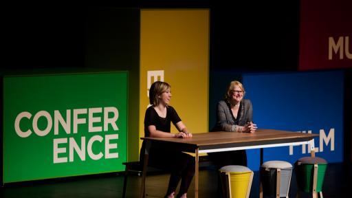 Marian Bantjes & Jessica Hische at Design Indaba Conference 2013.