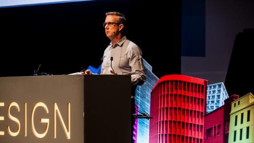 Chris Gotz on stage at Design Indaba Conference 2014.