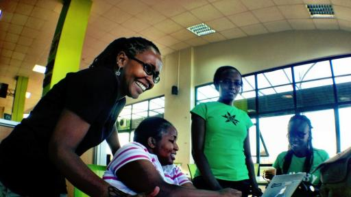 Juliana Rotich at work at Ushahidi.