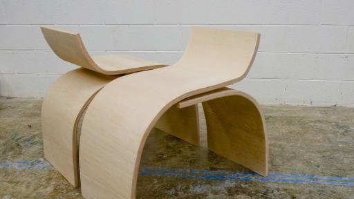 Designer Teshia Treuhaft's Curve Chair.